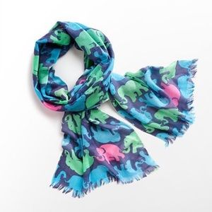 Lilly Pulitzer elephant scarf